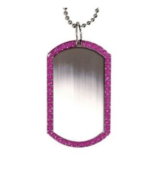 Marine Glitter Necklace Silver Finish in Women's Pendants