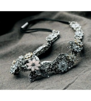 Daisy Handmade Flower Fashion Necklace in Women's Strand Necklaces