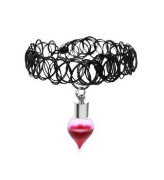 Paialco Women's Vampire Blood Vial Rope Necklaces - C312M31W95J