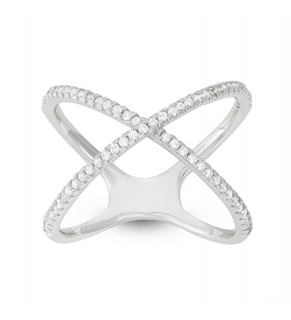 "Sterling Silver CZ Women's ""X"" Ring - C2183GQ93AR"