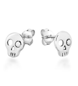 Punk Skull Sterling Silver Earrings