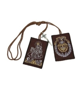 Our Lady of Mount Carmel Big Scapular with Cross Charm Escapulario Café de la Virgen del Carmen con cruz - CI11TA4MFN3