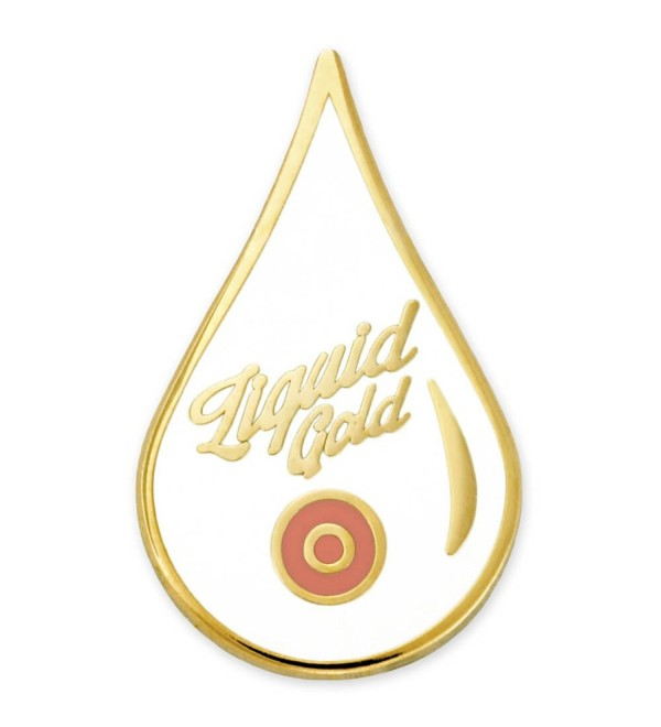PinMart's Liquid Gold Breastmilk Breastfeeding New Mom Enamel Lapel Pin - CH17Z4NY57Y