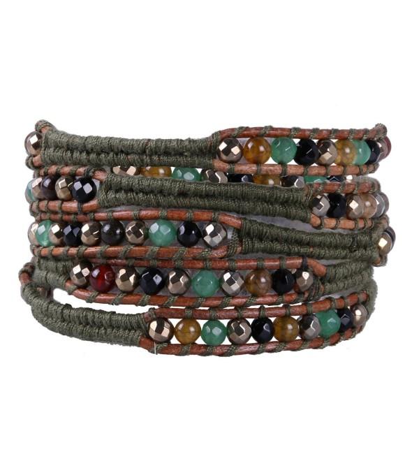 KELITCH Handmade Mix Beaded 5 Wrap Bracelets Handmade Strand bracelet For Gifts - CQ1880S9MWX
