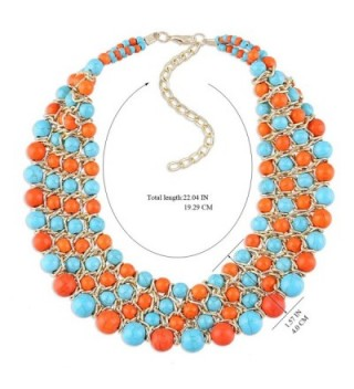 Imitation Turquoise Weaving Multicolor Necklace in Women's Choker Necklaces
