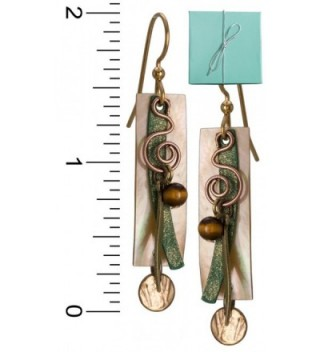 Layered Gold tone Surgical Silver Forest in Women's Drop & Dangle Earrings