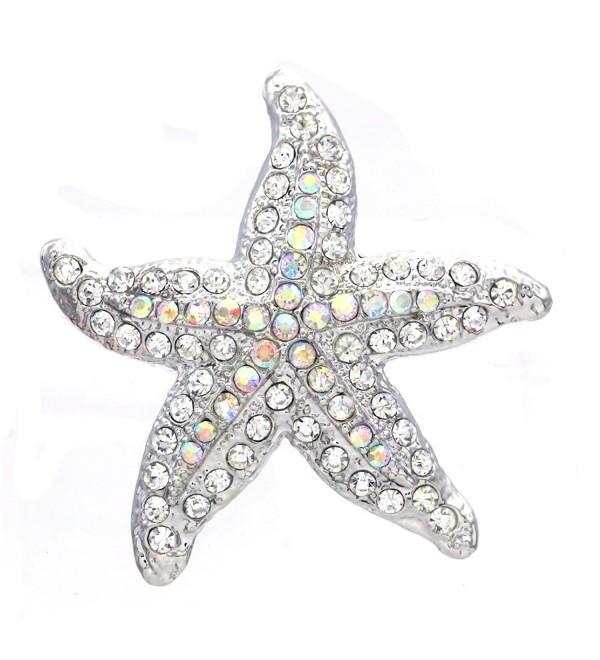 Starfish Charm Pin Brooch Wedding Bridesmaid Fashion Jewelry Necklace Pendant Compatible - CS1194FN4XJ