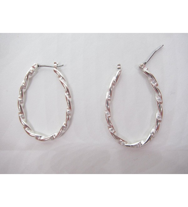 Holiday Specials- Hoop Earrings with a Silver Twist - C8119O2WSKR