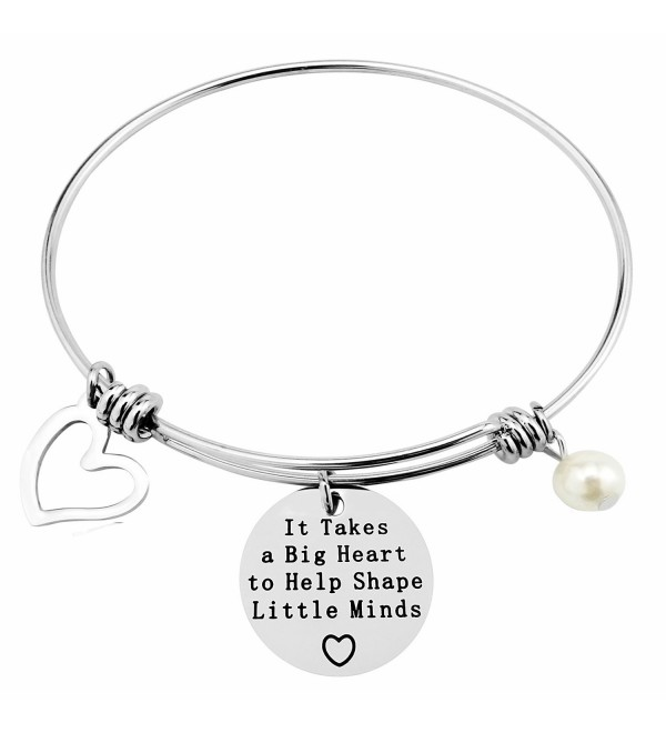 ALoveSoul Personalized Teacher Gift - It Takes a Big Heart To Help Shape Little Minds Graduation Bracelet - CG184HATAXD