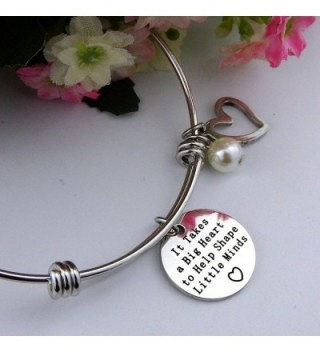 ALoveSoul Personalized Teacher Gift Graduation in Women's Bangle Bracelets