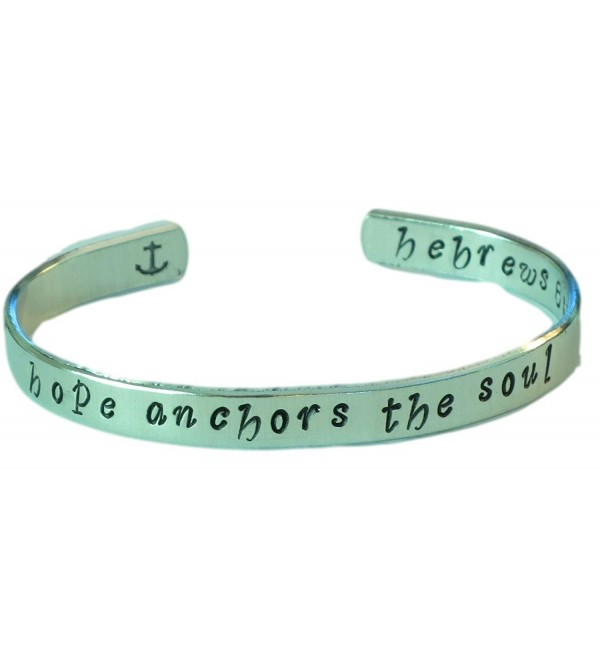 Hand stamped Bracelet - Hope anchors the soul- Hebrews 6:19 - Hand stamped bracelet - C411MOLBQ8F