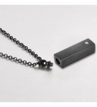 Rectangle Necklace Stainless Memorial Keepsake