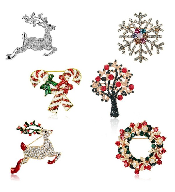 Christmas Brooch Pin Set Women - C312O9ZT6O7