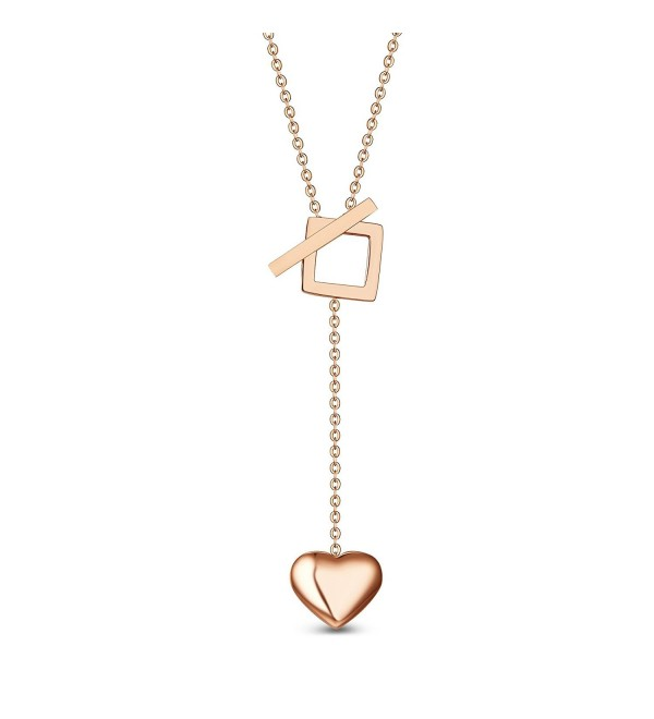 T400 Jewelers Necklace On Sale Valentine's Day Love Gift - Rose Gold Titanium Steel - CN12I4J8CVJ