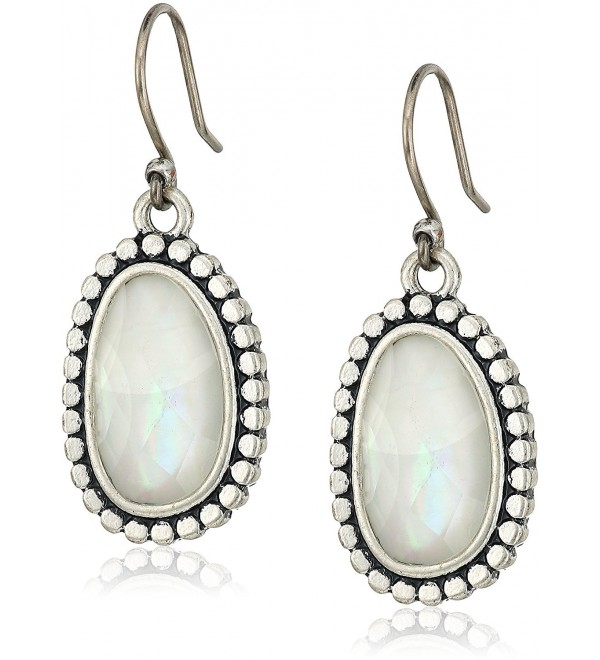 Lucky Brand Womens Mother-of-Pearl Drop Earrings II - Silver - C012NZVYI4H