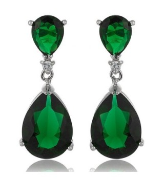 RIZILIA Teardrop Earrings Simulated Celebrity - Green - CF182TIH79O