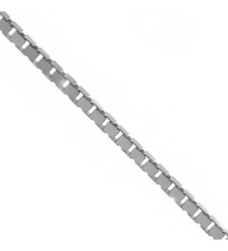"""JewelStop 925 Sterling Silver 1.1 mm Box Chain Necklace- Lobster Claw Clasp - 20"""" - CV118B1U0OX"""