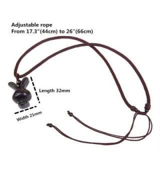 Obsidian Pendant Necklace Amulet Gemstone