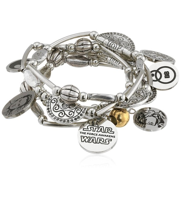 Star Wars Jewelry Episode 7 Rey Stainless Steel Charm Stretch Bracelet - C81265P28FZ