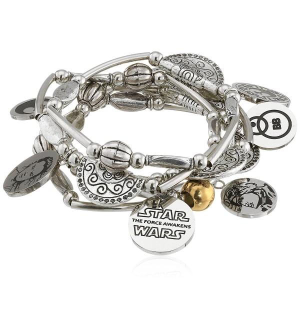 Star Wars Jewelry Episode 7 Rey Stainless Steel Charm Stretch Bracelet - C81265P28FZ