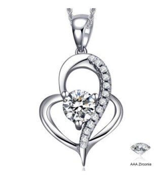 Valentines Jewelry Sterling Zirconia Necklace - CP17YWGZYH4