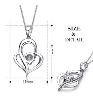 Valentines Jewelry Sterling Zirconia Necklace