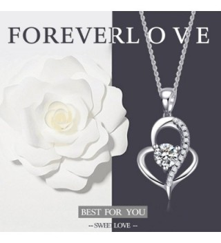 Valentines Jewelry Sterling Zirconia Necklace in Women's Pendants