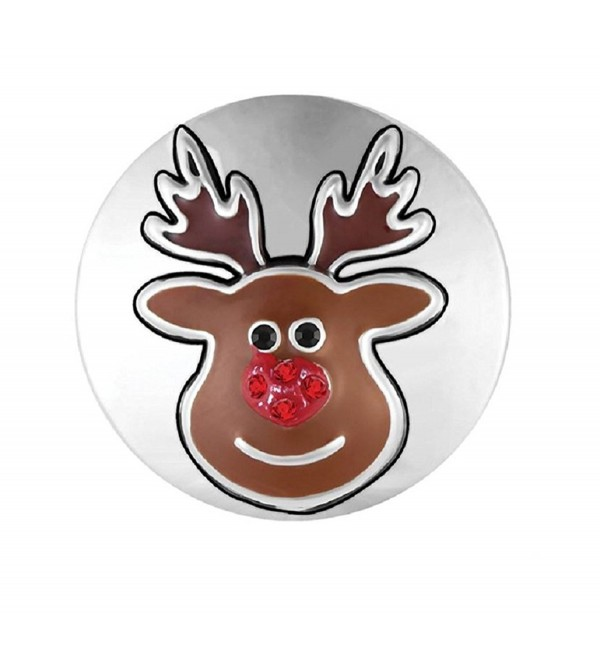 Ginger Snaps Mr. Reindeer SN19-32 (Standard Size) Interchangeable Jewelry Accessories - CQ185M0EGAR