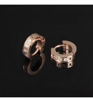 Opk Jewelry Stainless Zirconia Earring In Women S Hoop Earrings