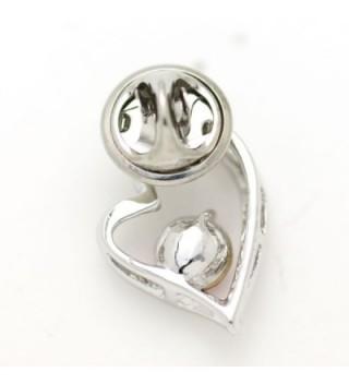 Akianna Swarovski Crystals Valentine Silver Tone in Women's Brooches & Pins