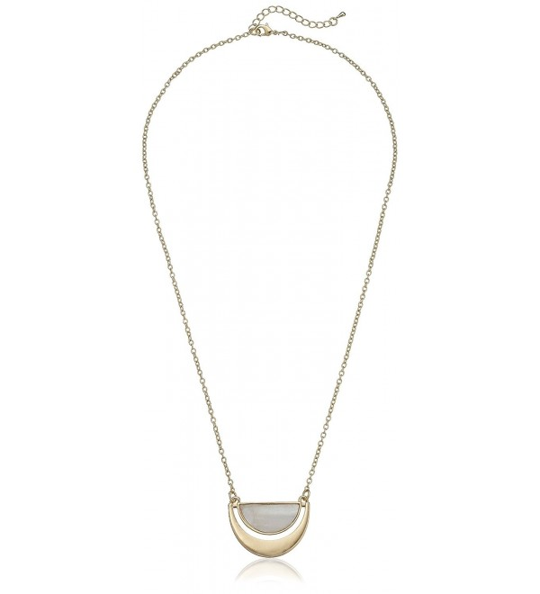 """Panacea Half Moon Shape Pendant Necklace- 24"""" + 2"""" extender - CV128FHWX51"""
