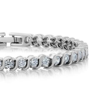 Stunning Round Zirconia Tennis Bracelet