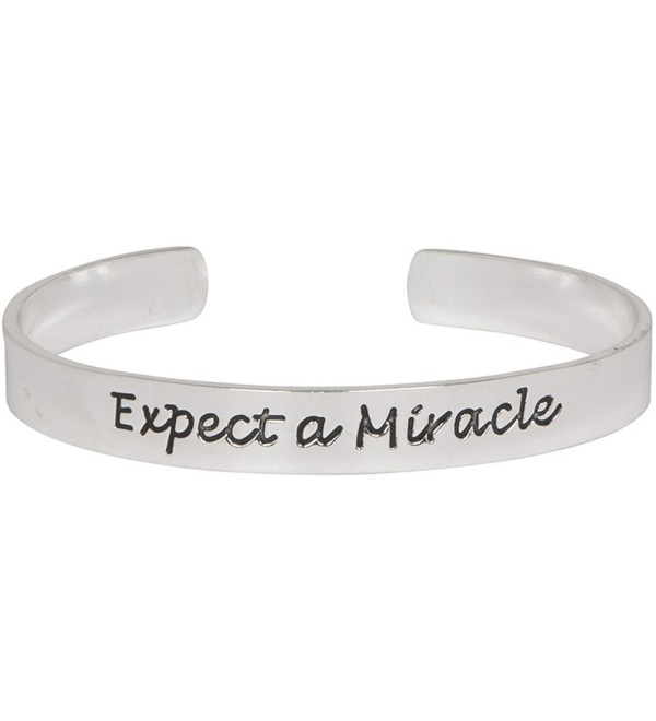 Expect A Miracle Adjustable Cuff Inspirational Bracelet in Silver Tone - CS11EPG45OT