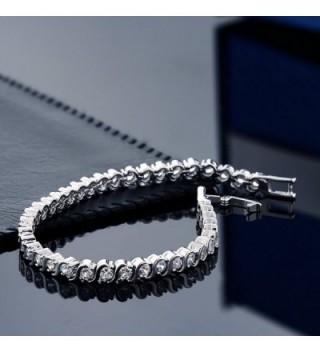 Stunning Round Zirconia Tennis Bracelet in Women's Tennis Bracelets