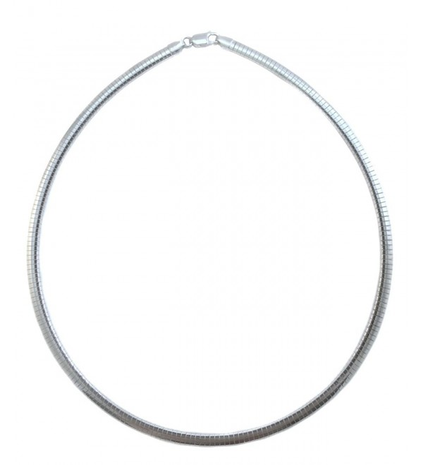 4mm Omega Necklace .925 Italian Sterling Silver Chain. 16-18-20 Inches - CR11TJMX5NV