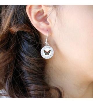 Awareness Butterfly Earrings Crystal Rhinestones in Women's Drop & Dangle Earrings