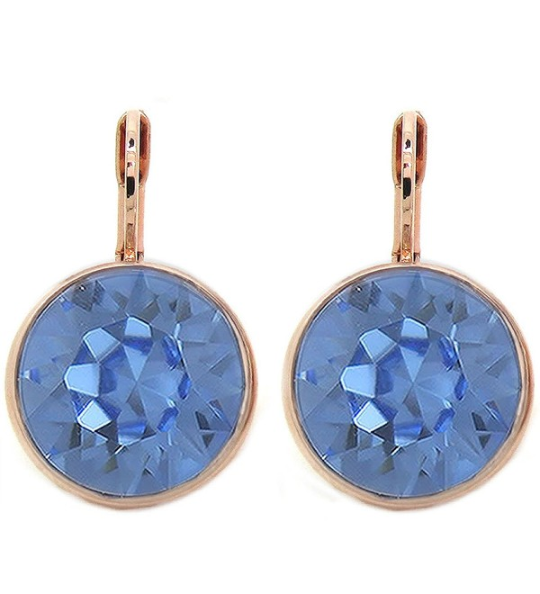 CP Bella Light Sapphire Crystal Rose Gold-plated Earrings Made with Swarovski Crystals - CS189U7Y0W7