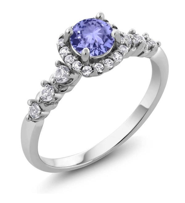 Tanzanite Sapphire Sterling Engagement Available - C71878SWO0G
