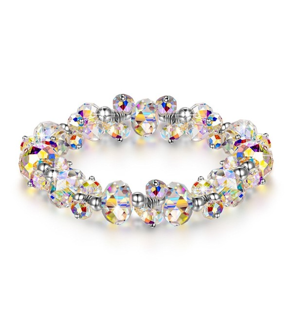 "LADY COLOUR ""When in Rome"" Strech Bracelet Made with Swarovski Crystals - A Little Romance Series - CD182E227IG"