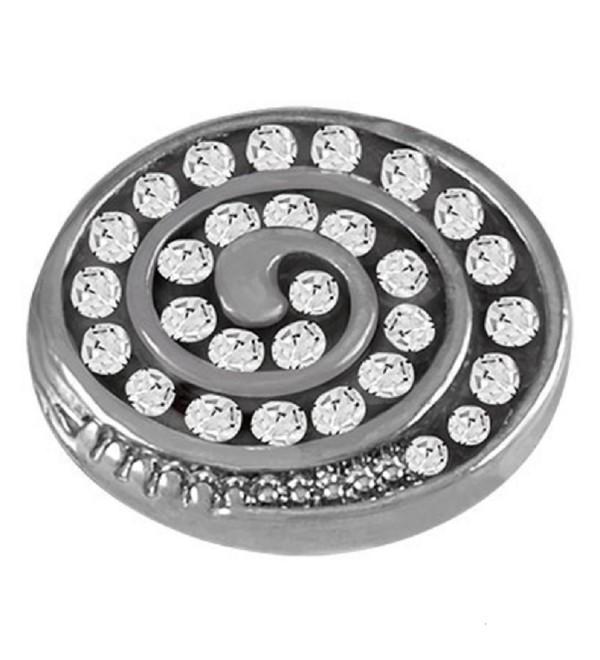 Lottie Dotties Gunmetal Swirl LD05-56 Magnetic Dottie Charm - CP1267OG2P1