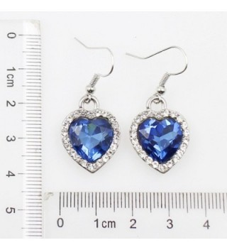 Sets Ocean Heart 925 Crystal Sapphire Set