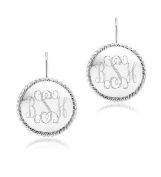 Azury Personliazed Monogram Earrings Free Engraving