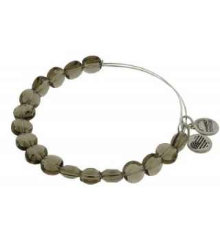 Alex and Ani Womens Smoke Luxe Bead Bangle - Rafaelian Silver Finish - C811JRK0K8D