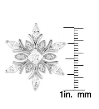 Sterling Silver Snowflake Pendant Chain in Women's Pendants