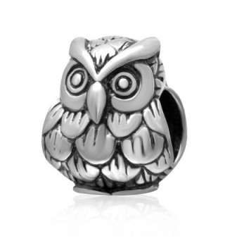 Lucky Baby Owl Charms 925 Sterling Silver Smart Animals Bead Charm - CH1870IU372
