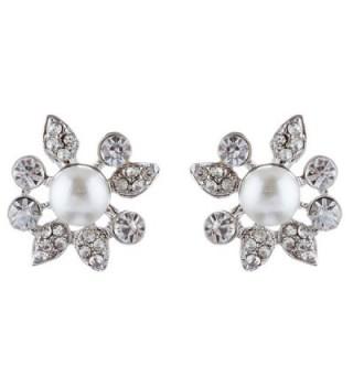 ACCESSORIESFOREVER Wedding Rhinestone Exquisite Necklace