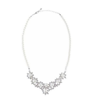 ACCESSORIESFOREVER Wedding Rhinestone Exquisite Necklace in Women's Jewelry Sets