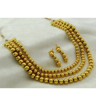 Banithani Beautiful Traditional Goldtone Necklace