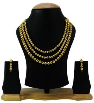 Banithani Beautiful Traditional Goldtone Necklace in Women's Jewelry Sets