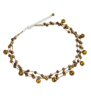 NOVICA Cultured Freshwater Stainless Necklace